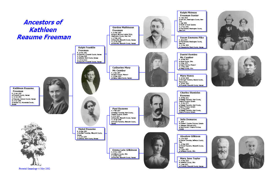 ancestor and other standard genealogy charts